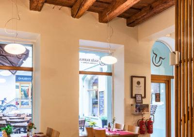 Fotografování interiérů - restaurace Naše farma