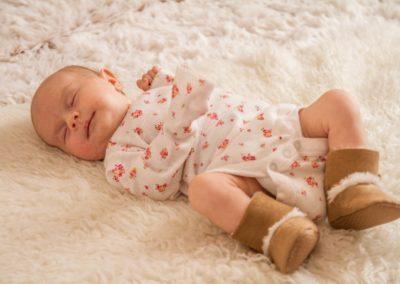 Portrétní fotografie děti - Annabellka 1 měsíc