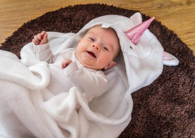Portrétní fotografie děti - Annabellka 2 měsíce