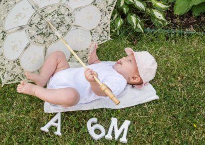 Portrétní fotografie děti - Annabellka 6 měsíců