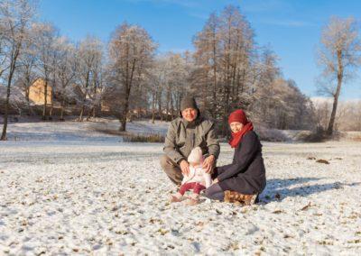 Portrétní fotografie rodina - v zámeckém parku Pacov
