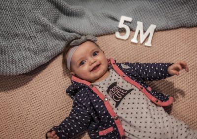 Portrétní fotografie děti - Malvínka 5 měsíců