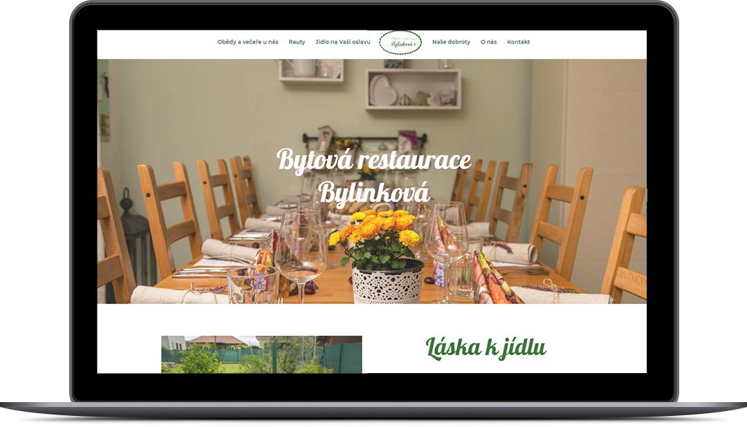Tvorba webových stránek Bytová restaurace Bylinková