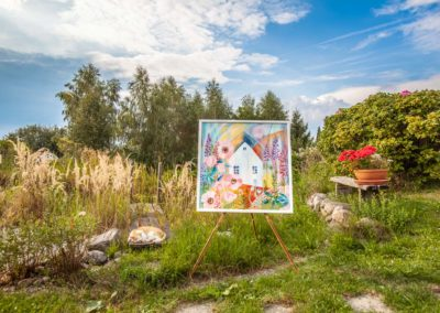 Léčivé obrazy Ireny Kovářové - v přírodní zahradě Anas
